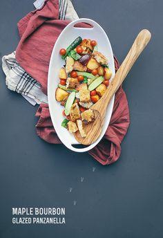 Grilled Maple Bourbon Glazed Panzanella Salad