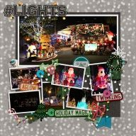 Christmas lights at  Fort Wilderness campground, Walt Disney World.  Credits: Festival of Lights Bundle by Ziggle Designs http://scraporchard.com/market/Festival-of-Lights-Digital-Scrapbook-Bundle.html  Template:  January 2014 Template Freebie by Scrapping With Liz  https://www.facebook.com/ScrappingwithLiz/app_352757751422557  Font:  Architect's Daughter  - My Layouts