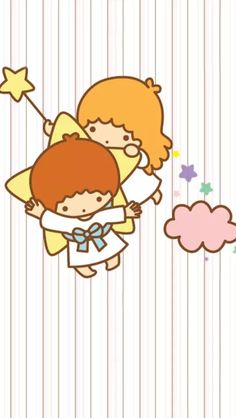 Little Twin Stars ★ Find more Super Cute Kawaii wallpapers for your #iPhone…