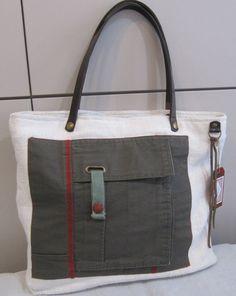 tote bag hemp and canvas pieza única por LAMILAcanvas en Etsy