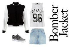 """TheBomb"" by somewhereinwonderland112 on Polyvore featuring Ally Fashion, Vans, New Look and bomberjackets"