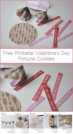 Free Printable Valentine's Day Fortune Cookies