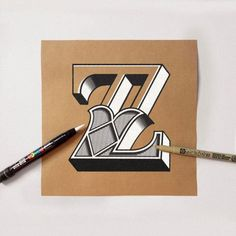 Some of the great lettering word of James Lewis, you can see more type and lettering on his website.