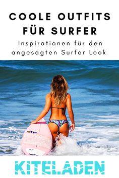 Du bist auf der Suche nach einem coolen Surf Bikini? Hier findest Du coole Surf Bikinis und Outfits für Surfergirls.  Außerdem findest Du noch Inspirationen, wie Du den angesagten Surfer Look kombinieren kannst!  #surfbikini #beachwear #surfergirl #outfit Surf Bikini, Cooler Look, Surfer, Beach Wear, Strand, Bikinis, About Me Blog, Think, Inspiration