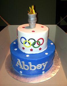 Olympic theme cake. | Birthday Party Ideas | Pinterest