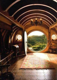 Hobbit door--New Zealand photo via doodle