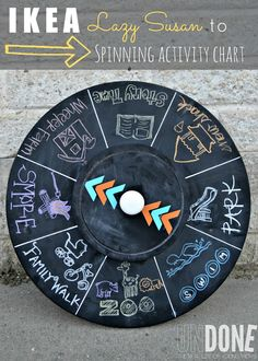 Ikea Lazy Susan turned Spinning Activity Chart