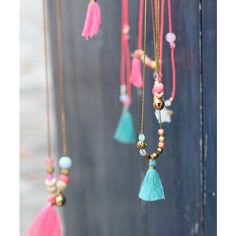 Tassel and beads necklace // collar borlas