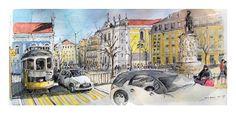 Lisbonne - Portugal - pl.Camoens