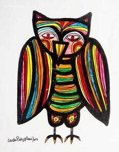 """""""Luego instaló su taller en Buenos Aires, donde vivió catorce años. Durante este lapso canalizó su inagotable capacidad creativa en esculturas, ediciones literarias, y múltiples series de pinturas, en las que expresó su búsqueda constante a través de las formas y el color"""""""
