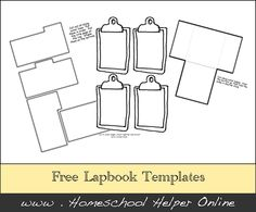 Free Lapbook Template Pages - Homeschool Helper Online
