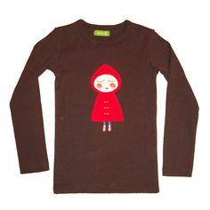 Knotsknetter - Lily-Balou longsleeve Little Red Riding Hood - Meisjes