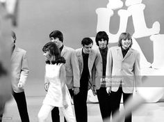 Rock band 'The Yardbirds' perform on the TV show 'Hullaballoo' in 1965 in New…