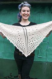 Ravelry: The Lace Mess Shawl pattern by Sylvia Bo Bilvia