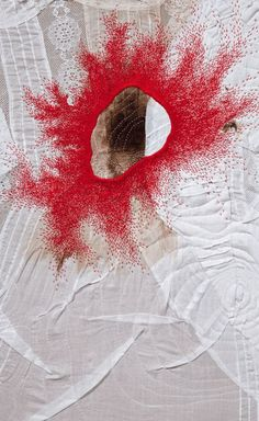 Detail_Erin Endicott Daniels Healing Sutra - faden - Home Textile Fiber Art, Textile Artists, Tsumtsum, Art Du Fil, Creative Textiles, Textiles Techniques, Quilting, Fabric Manipulation, Embroidery Art