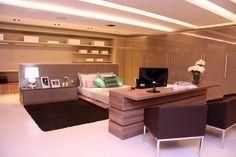 """Na mostra """"Moda da Casa"""", realizada na Mega Store Dell Anno – Niterói/RJ, este quarto foi desenhado pelas arquitetas Beatriz Carvalho, Cecília Carvalho e Bianca Mello."""