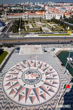 El mundo desde el Monumento a los Descubrimientos de Lisboa