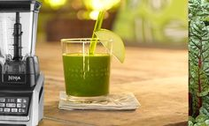 """The Ninja Blender Dandy Green Machine Smoothie is a phytonutrient rich """"Smoothies & Super Juices"""" drink. This recipe will show you how to make one."""