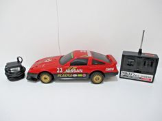 Nikko RC NISSAN #33 Big Fairlady 300ZX Red Remote Control Race Car 1984  1:16