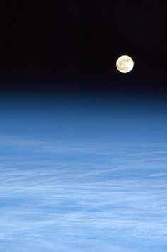 The Moon from the International Space Station, via Chris Hadfield @Cmdr_Hadfield