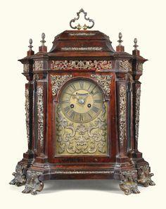 A Roman gilt-mounted rosewood quarter striking table clock with alarm, circa 1750 | lot | Sotheby's