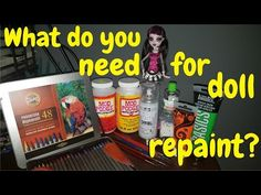 What do you need for doll repainting? Supplies and how to use [shadow Draculaura custom] - YouTube
