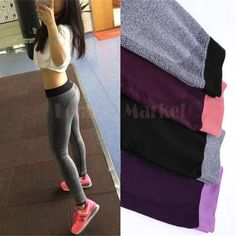S M New 2015 Spring-Summer Women'S Sports Leggings fitness High Waist Elastic Fashion Fitness Workout Leggings Pants 50