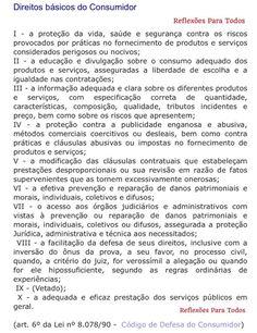 15 de março - Dia do Consumidor Acesse os direitos do consumidor, com link para o Código de Defesa do Consumidor - Lei nº 8.078/90 em nosso blog Reflexões Para Todos.