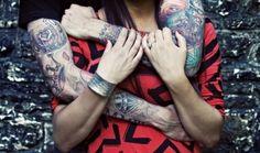 tattoo #ink #inked #couple #tatts #tattoos