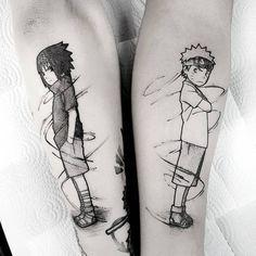 Pin by 𝕷𝖚𝖈𝖎𝖋𝖊𝖗𝖘 𝖆𝖇𝖆𝖓𝖉𝖔𝖓𝖊𝖉 𝖉𝖔𝖑𝖑 on t a t t o o s Tatoo Naruto, Naruto Sasuke Sakura, Naruto Shippuden Sasuke, Anime Naruto, Sasunaru, Boruto, Full Body Tattoo, Body Art Tattoos, Sleeve Tattoos