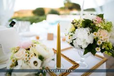Picture frames on table as centerpiece by Michela & Michela www.italianweddingcompany.com
