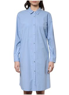 Pomandere - 9306 Shirt Dress in Light Blue – gravitypope Point Collar, Hemline, Shirt Dress, This Or That Questions, Front Button, Customer Service, Long Sleeve, Fabric, Sleeves