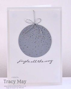 Stampin' Up! Softly Falling Christmas Card ideas Tracy May