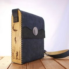 · *UPDATE: number 1 is sold These are unique items, entirely crafted by hand using high quality UPCYCLED italian leather. They are handstitched with a special and very resistant waxed thread, which… Leather Bags Handmade, Leather Craft, Macbook Air Bag, Leather Purses, Leather Handbags, Wooden Bag, Leather Holster, Leather Projects, Leather Design