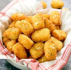 Homemade mashed potato tots are a great use for leftover mashed potatoes and a tasty variation on traditional tater tots. Instead of shredded potatoes, these crispy bites are filled with creamy mashed potatoes.