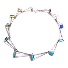 12 Stone Large Jet Row Necklace – Mora Designer Jewelry