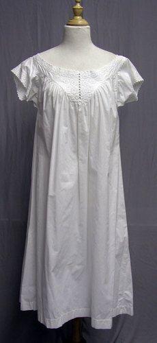 1860's Cotton Whitework Victorian Chemise Hand Sewn | eBay