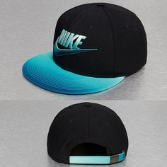Nike snapback cap black blue