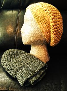 Amazing crocheted slouch hats! Love these! Small, medium and large!