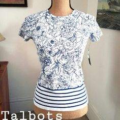 Talbots 100% pima cotton fitted shirt Very soft very comfy. Check out my other listings and Bundle up with just one more item to save 10% and only pay shipping for one! Fast delivery Talbots Tops Tees - Short Sleeve