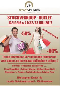 Uitverkoop Merkkledij -60% in Roeselare -- Roeselare -- 14/07-23/07