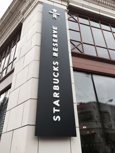 Starbucks Reserve Roastery & Tasting Room in Seattle, WA Starbucks Store, Starbucks Reserve, Japanese Shop, Wayfinding Signage, Tasting Room, Four Square, Brewing, Seattle, Base