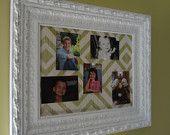 White Framed Corkboard Pinboard Display Frame Wedding Seating Chart Home Office Ornate Lee Jofa Paper