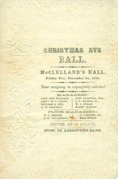 Local History @ CDPL: Christmas Eve Ball invitation, 1858