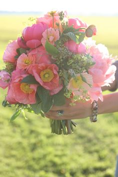 organic bridal bouquet by Erin Benzakein / Floret Flower Farm, via Flickr