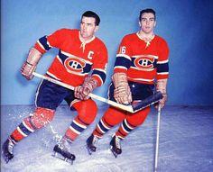 Maurice Richard and Henri Richard Women's Hockey, Hockey Cards, Hockey Players, Baseball, Hockey Stuff, Montreal Canadiens, Maurice Richard, Canadian History, National Hockey League