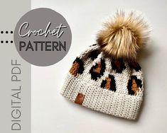 Crochet Beanie, Knitted Hats, Crochet Hats, Sport Weight Yarn, Faux Fur Pom Pom, Slouchy Hat, Ear Warmers, Double Crochet, Crochet Patterns