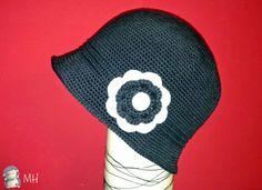 Sombrero cloche a crochet con patron y truco en castellano