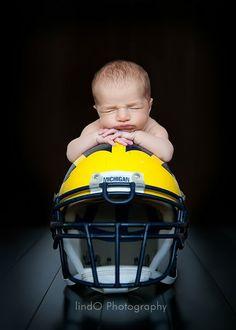Possible shot for a newborn pic for Logan w/ the TTU helmet?