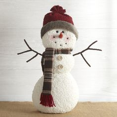 Country Christmas Decorations, Snowman Decorations, Christmas Ornaments To Make, How To Make Ornaments, Christmas Snowman, Sock Snowman Craft, Snowman Crafts, Snowman 6, Snowman Faces